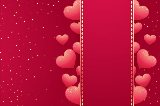Hearts background with space for your text