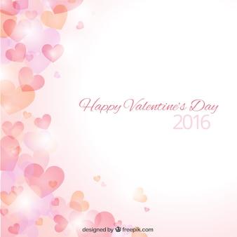 Hearts bokeh valentine day background