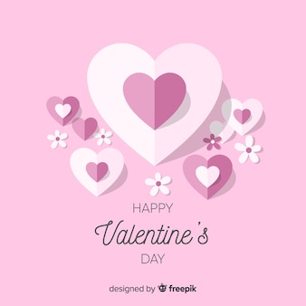 Hearts and flowers valentine background