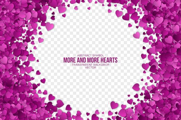 Декоративная бумага hearts frame абстрактный фон