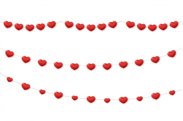 Hearts garland decoration.