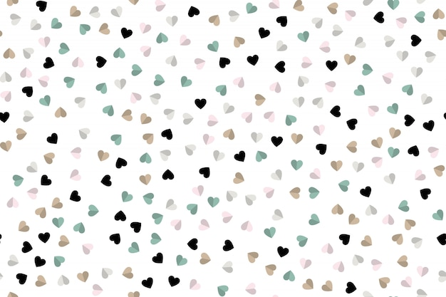 Hearts icon background.  style
