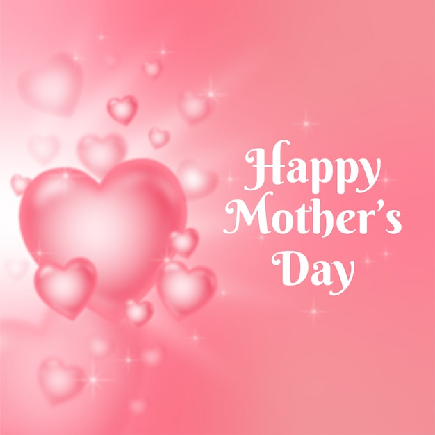 Hearts for mother's day greeting card