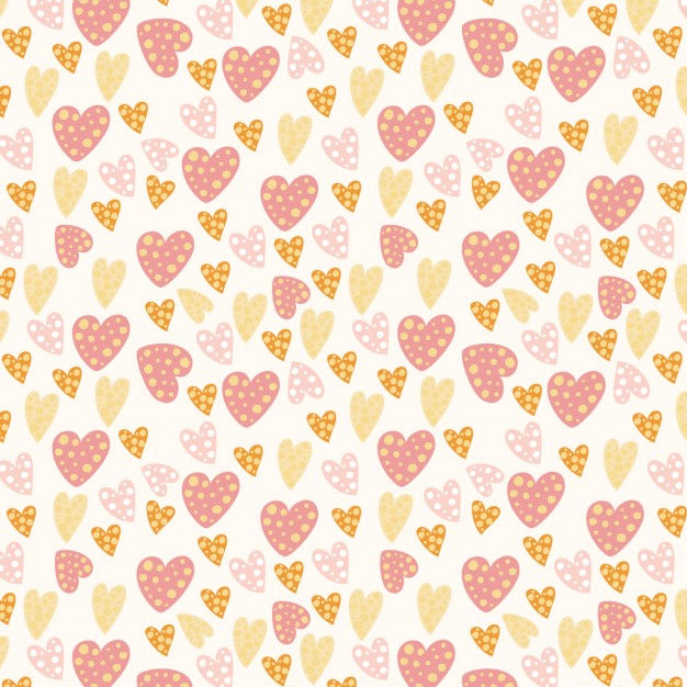 Hearts pattern with dots
