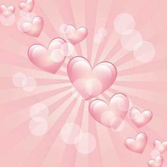 Hearts over pink background vector illlutration