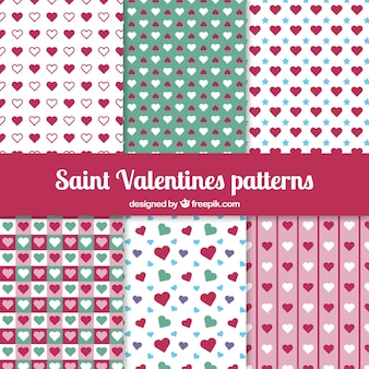 Hearts saint valentine pattern