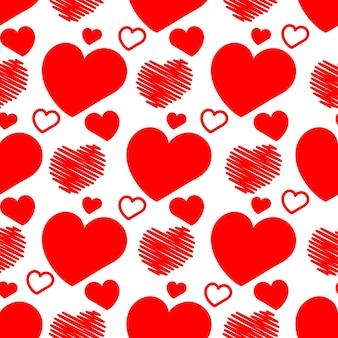 Сердца бесшовный фон векторные иллюстрации на день святого валентина