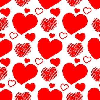 Hearts seamless background vector illustration for valentine's day