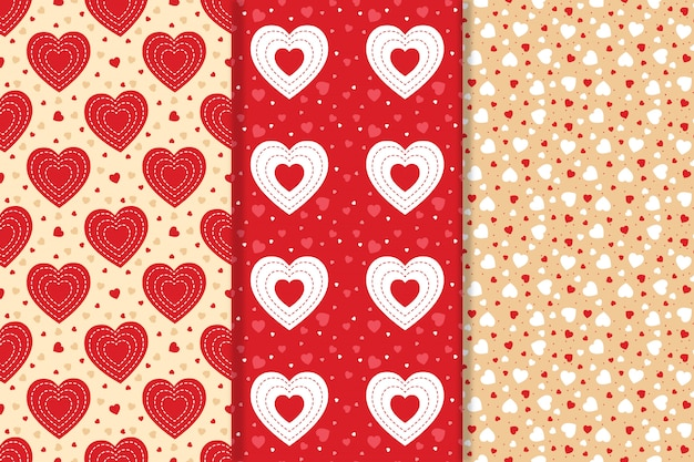 Hearts seamless pattern collection
