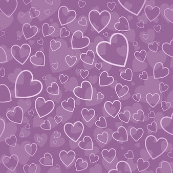 Hearts in shades of pink