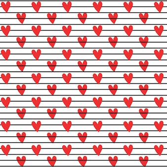Hearts and stripes background pattern