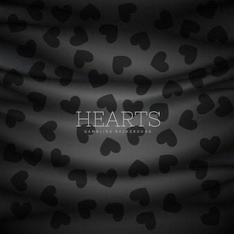 Hearts symbol pattern background