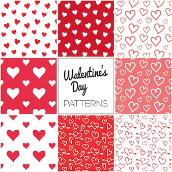 Hearts valentine's day pattern collection