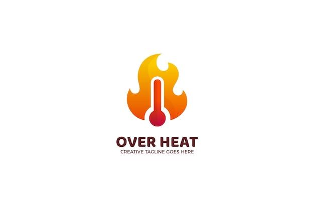 Over heat temperature logo template