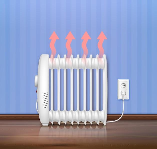 Heater interior realistic illustration