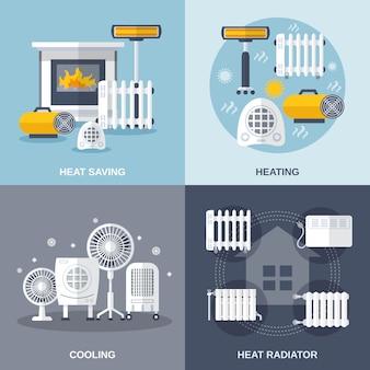 평평한 가열 및 냉각
