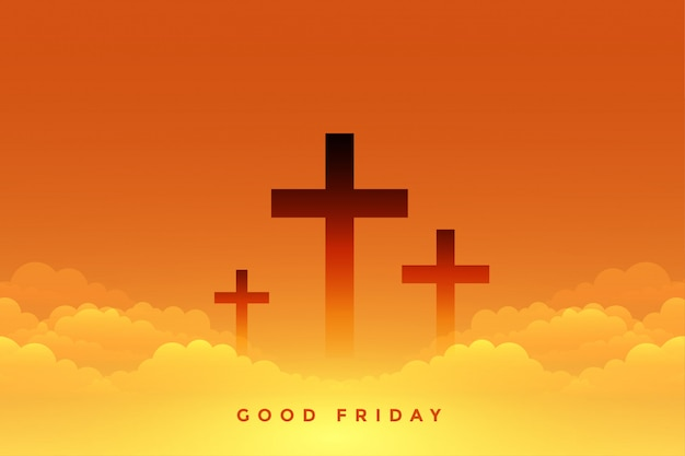 Heavenly sence of good friday with cross symbols