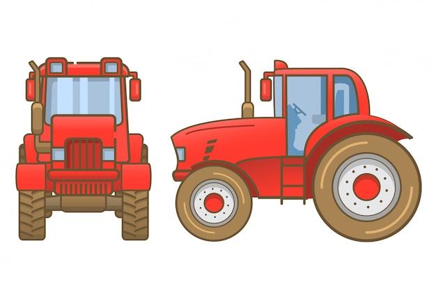 무거운 농업 차량 트랙터 농장.
