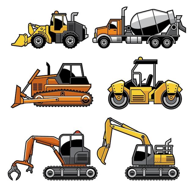 Heavy machinery in set