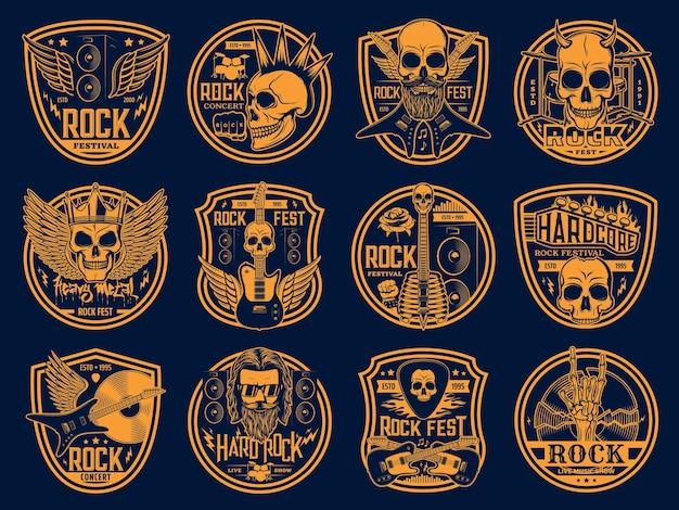Heavy rock and punk music set.
