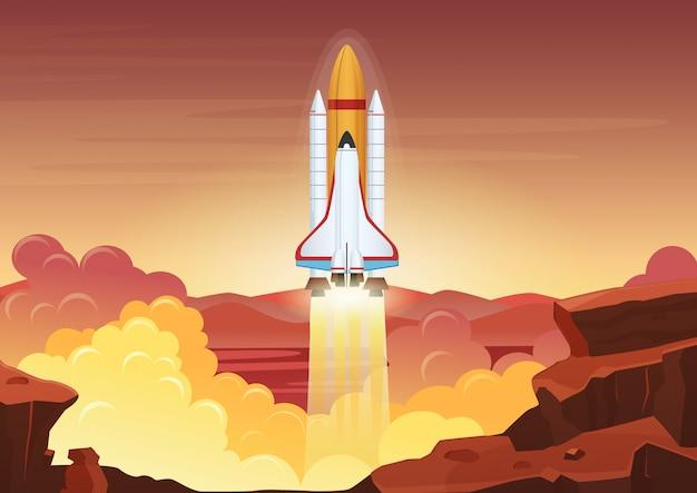 重いロケット打ち上げ。
