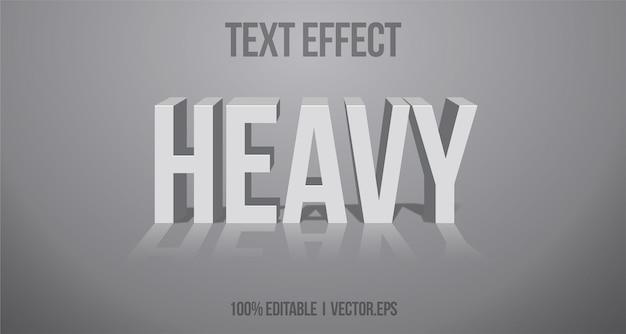 Heavy text effect editable