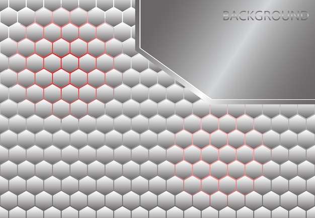 Hecagon premium background