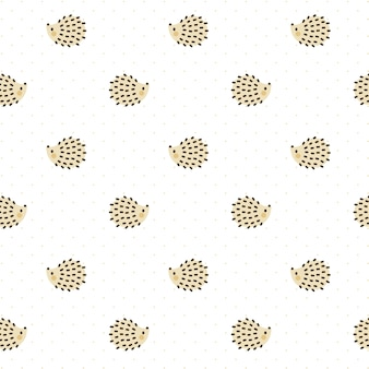 Hedgehog seamless pattern background