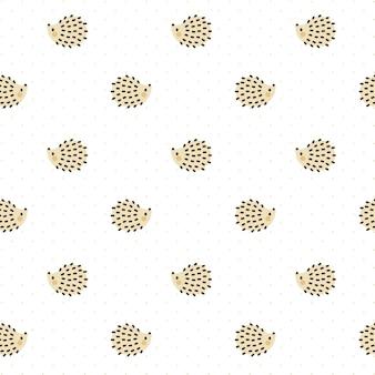 Бесшовный фон с орнаментом hedgehog