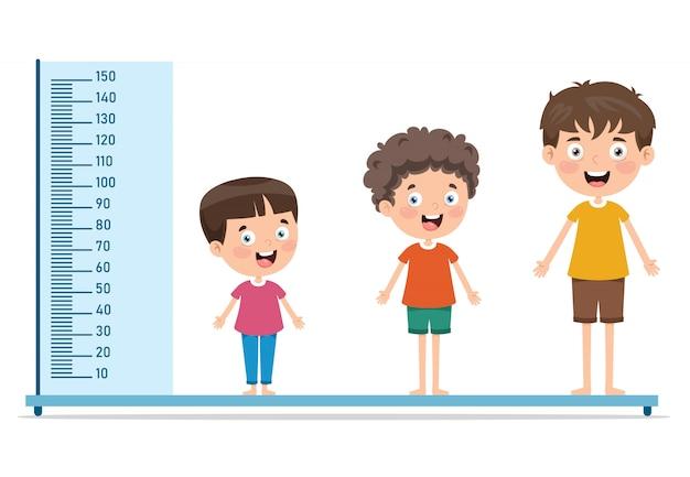 어린이를위한 키 측정