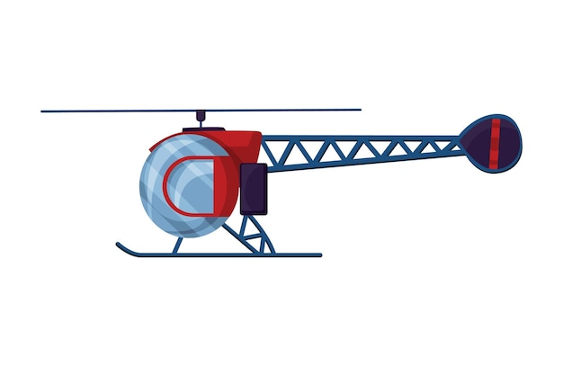 ヘリコプターの漫画の航空。