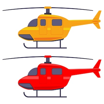 Helicopter cartoon illustration isolated on a white background.