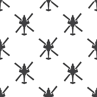 Helicopter, vector seamless pattern, editable can be used for web page backgrounds, pattern fills