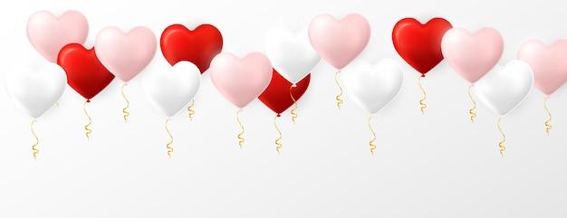 心臓の形のヘリウム気球