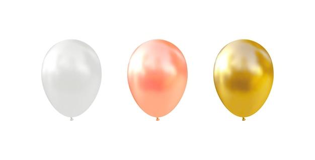 ヘリウム気球。リアルな光沢のある風船。 。