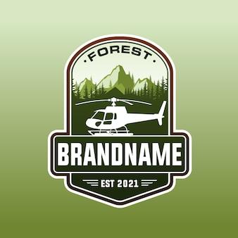 Шаблон логотипа вертолета