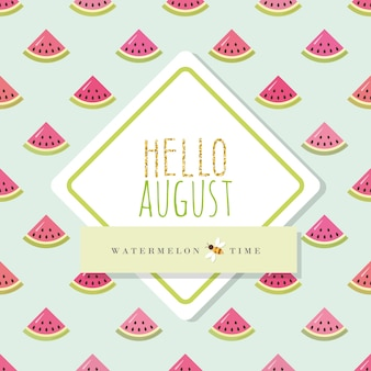 Hello august banner template