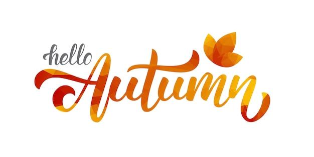 Hello autumn background design