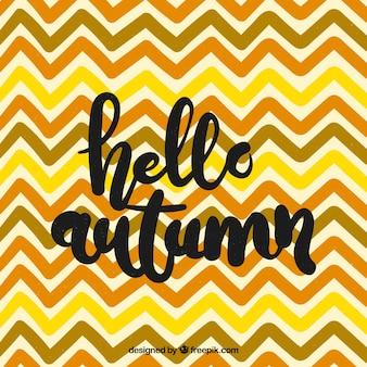 Hello autumn, background with zig zag