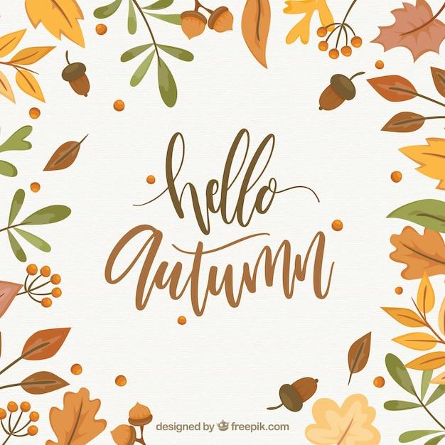 Charming Hello Autumn Background