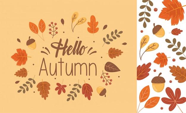 Hello autumn banner season
