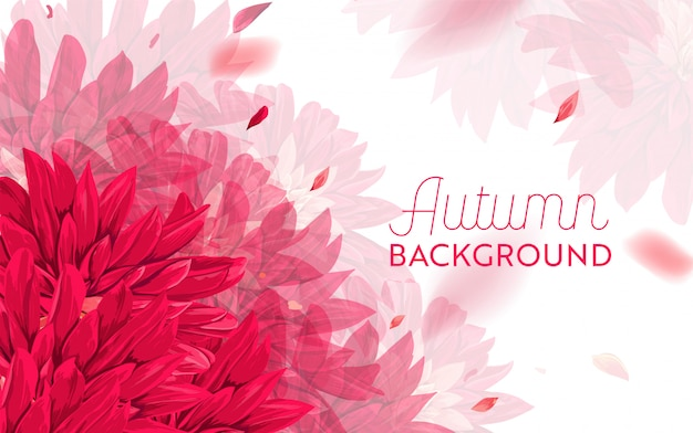 Hello autumn floral design. seasonal fall floral background