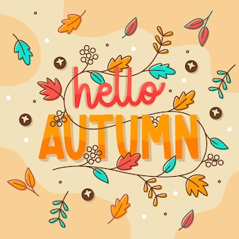 Hello autumn - lettering