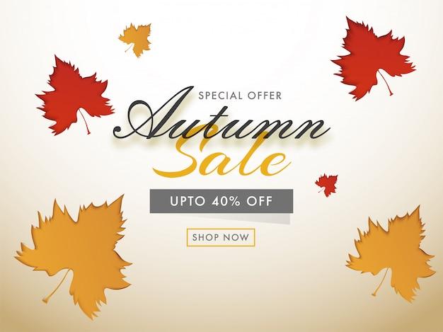 Hello autumn sale background.