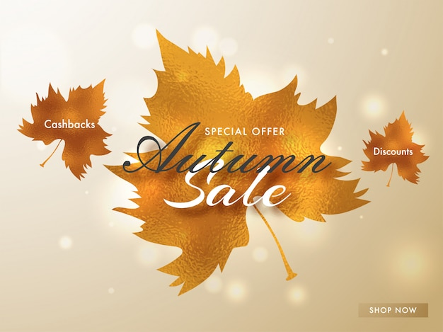 Hello autumn sale background.