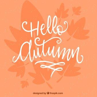 Hello autumn, salmon background