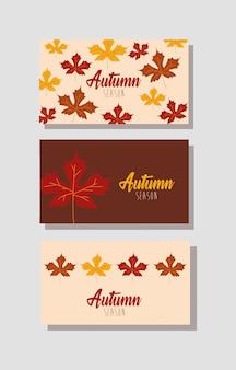 Hello autumn season bundle of cards