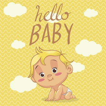 Hello baby background