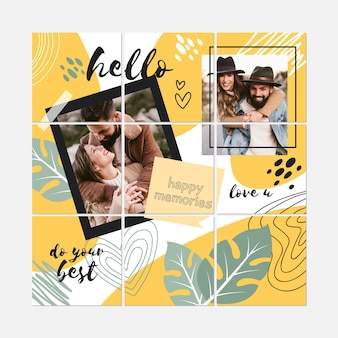 Hello couple instagram puzzle collection