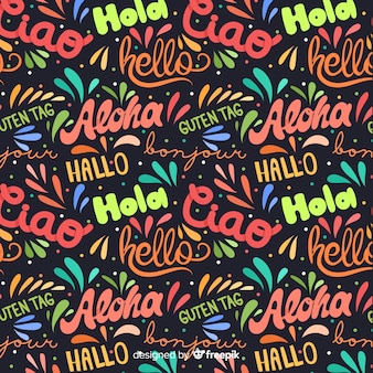 Hello in different languages background